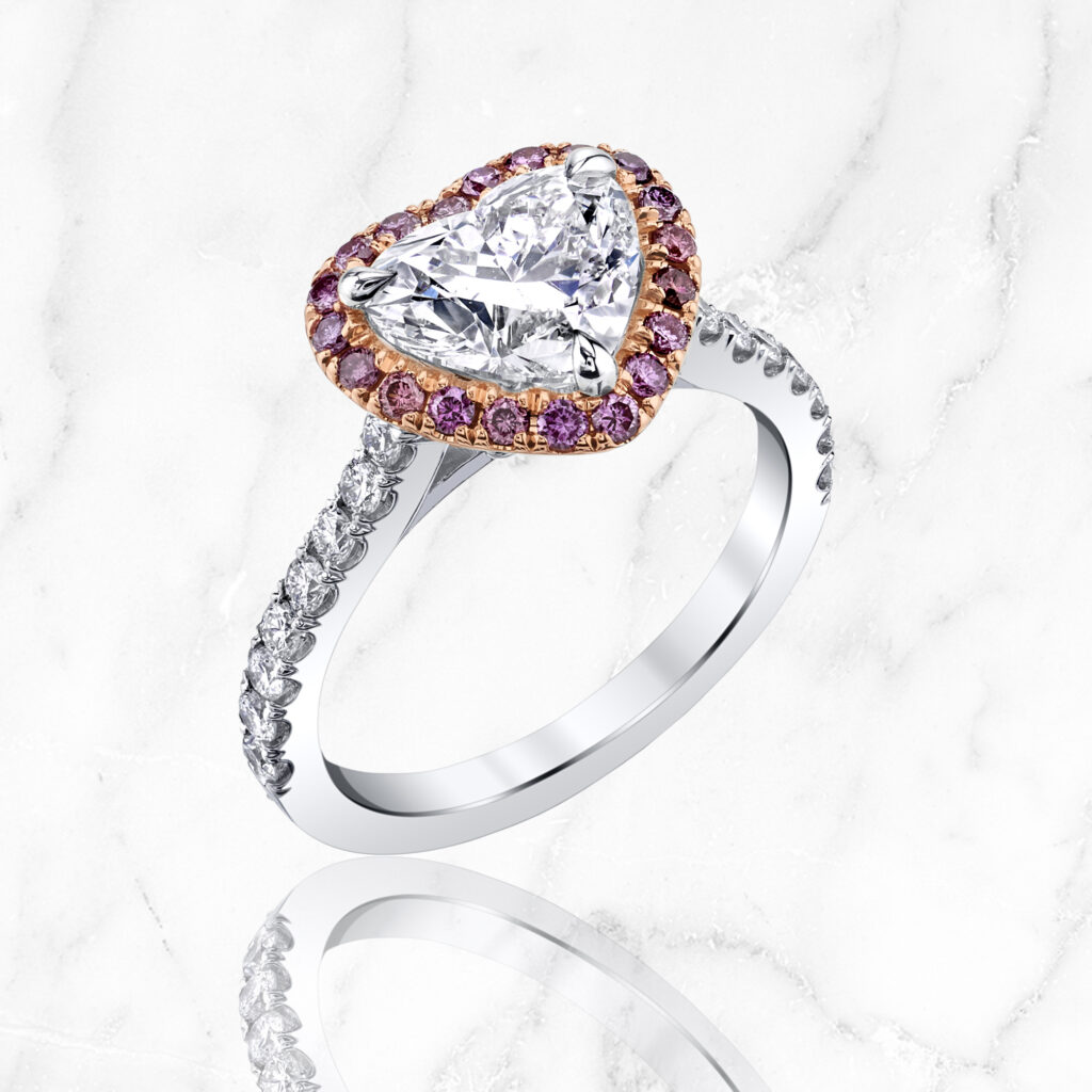 Heart Shaped Diamond Ring-ARKA Designs